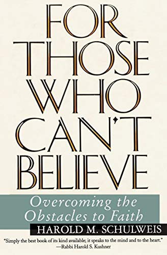 9780060926519: To Those Who Can't Believe: Overcoming the Obstacles to Faith