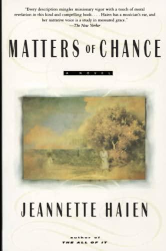 9780060929527: Matters of Chance: A Novel
