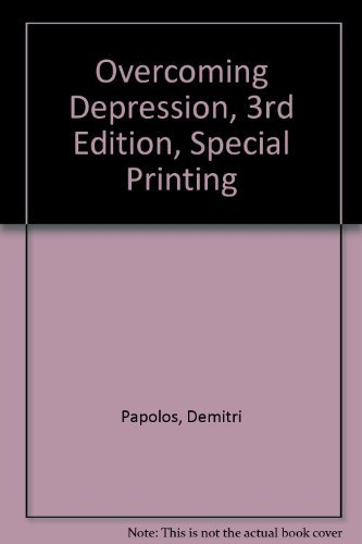 9780060931773: Overcoming Depression, 3rd edition, special printing