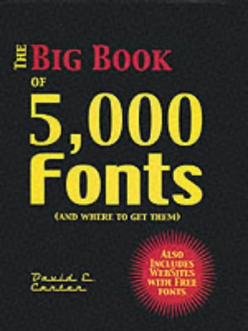 9780060938031: Big Book of 5,000 Fonts
