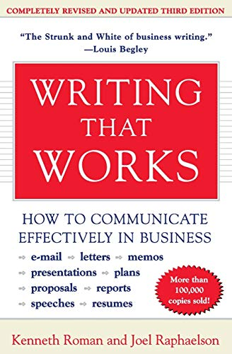 9780060956431: Writing That Works, 3e: How to Communicate Effectively in Business