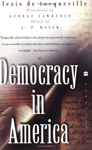 9780060956660: Democracy in America (Perennial Classics)