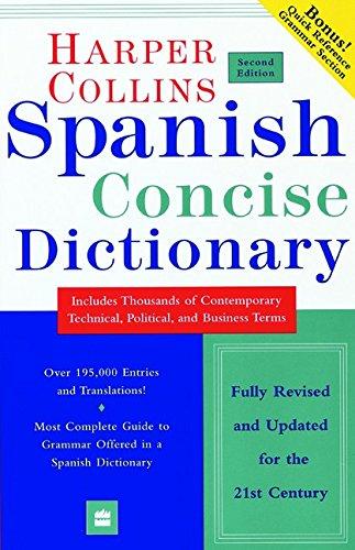 9780060956929: Spanish Dictionary Plus Grammar (Harpercollins Concise Dictionaries)