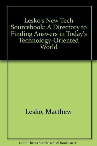9780060960360: Lesko's New Tech Sourcebook: A Directory to Finding Answers in Today's Technology-Oriented World