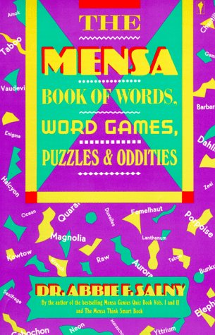 9780060962081: The Mensa Book of Words, Word Games, Puzzles, & Oddities