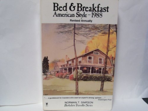 9780060962128: Bed and Breakfast American Style 1988 (Berkshire Traveller Series)