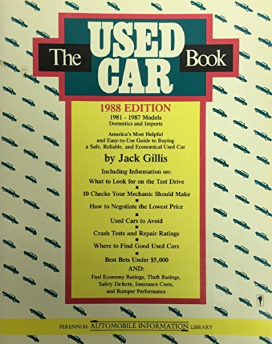 9780060962258: The Used Car Book 1988