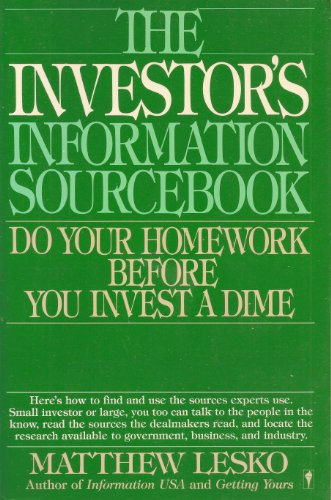 9780060962371: The Investor's Information Sourcebook