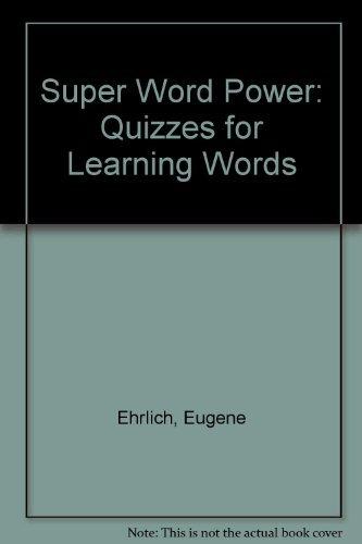 SuperWordPower (006096314X) by Ehrlich, Eugene H.