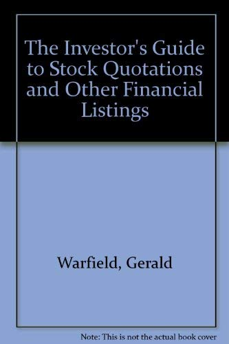 9780060964924: The Investor's Guide to Stock Quotations and Other Financial Listings