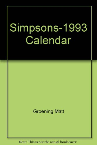 9780060968717: The Simpsons 1993 Fun Calendar