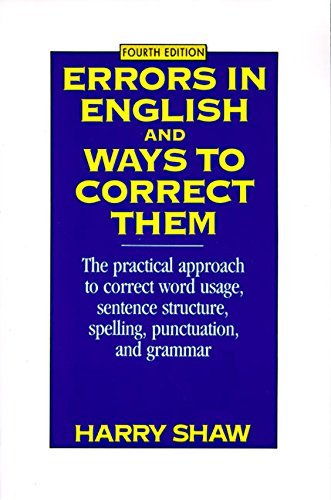 9780060970475: Errors in English and Ways to Correct Them
