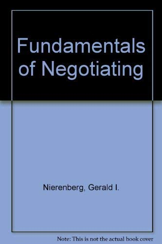 9780060971205: Fundamentals of Negotiating
