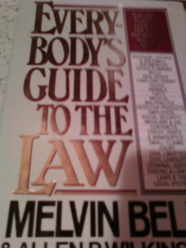 9780060971212: Everybody's guide to the law