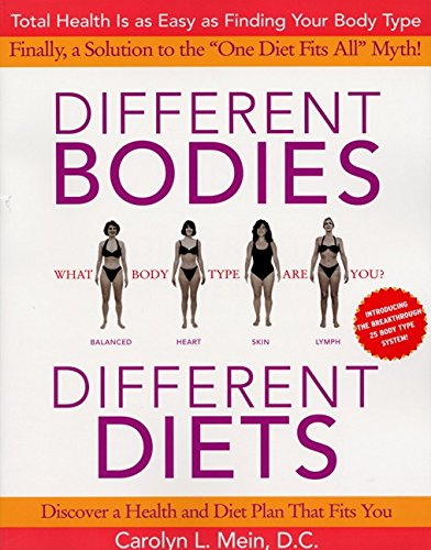 9780060988708: Different Bodies, Different Diets: Introducing the Revolutionary 25 Body Type System