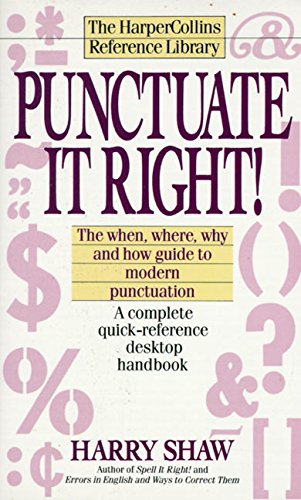 9780061008139: Punctuate It Right! (Harpercollins Reference Library)