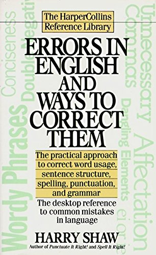 9780061008153: Errors in English and Ways to Correct Them (Harpercollins Reference Library)