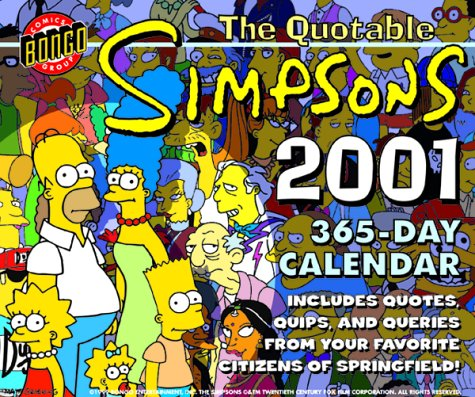 9780061058646: The Quotable Simpsons 2001 Calendar