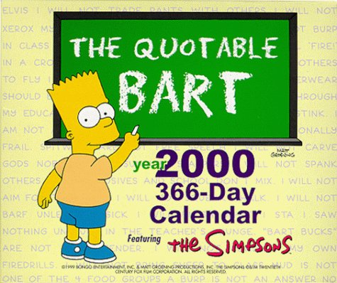 9780061075773: Quotable Bart Year 366 Day Calendar: 2000