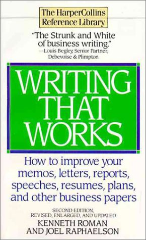 9780061093814: Writing That Works - Second Edition