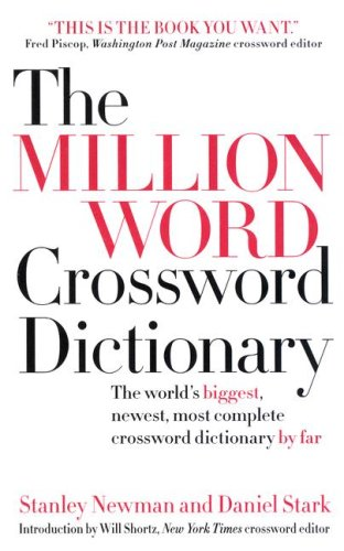 9780061122118: Million Word Crossword Dictionary, The