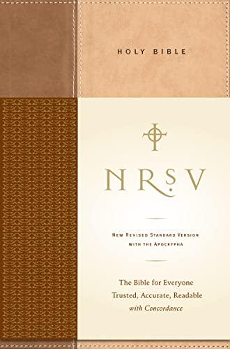 9780061231193: NRSV Standard Bible w/Apoc (tan/brown)