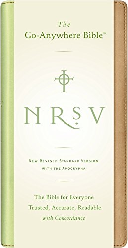 9780061231216: NRSV Go-Anywhere Bible w/Apoc NuTone (tan/green)