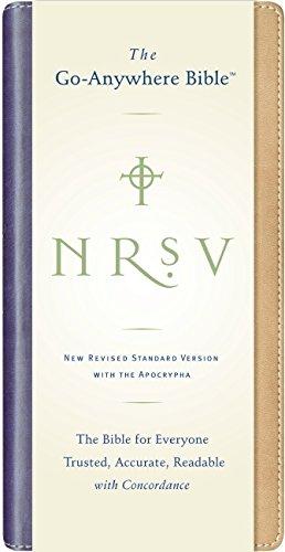 9780061231223: NRSV Go-Anywhere Bible w/Apoc NuTone (tan/blue)