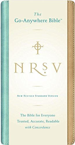 9780061236501: NRSV Go-Anywhere Bible NuTone (tan/teal)