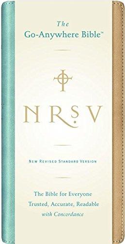 9780061236501: NRSV Go-Anywhere Bible NuTone (tan/teal)