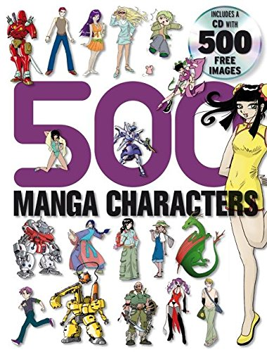 9780061256523: 500 Manga Characters [With 500 Free Images CD]