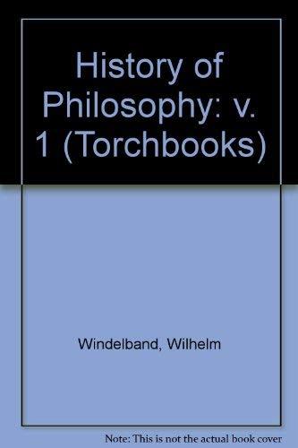 9780061300387: History of Philosophy: v. 1 (Torchbooks)
