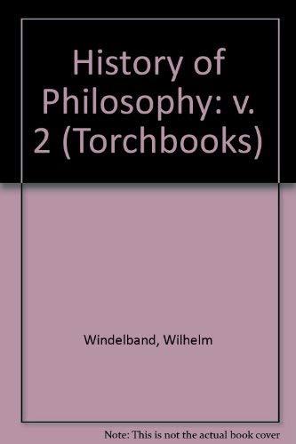 9780061300394: History of Philosophy: v. 2 (Torchbooks)