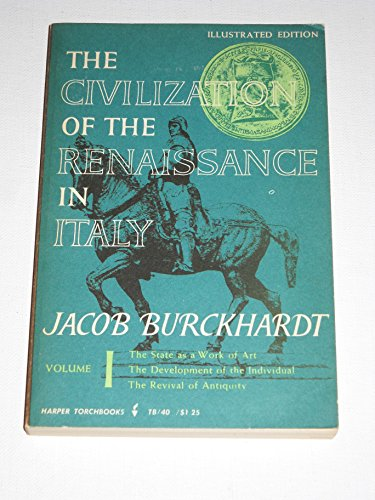 9780061300400: The Civilization of the Renaissance in Italy, Vol. 1