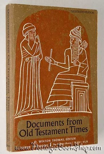 9780061300851: Documents from Old Testament Times (Torchbooks)