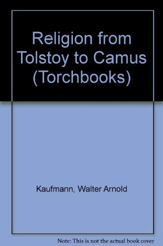 9780061301230: Religion from Tolstoy to Camus (Torchbooks)
