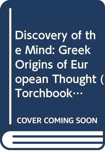 9780061310188: Discovery of the Mind: Greek Origins of European Thought (Torchbooks)