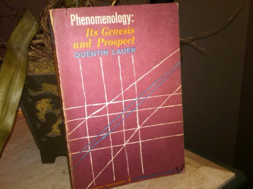 9780061311697: Phenomenology: Its Genesis and Prospect (Academy Library)