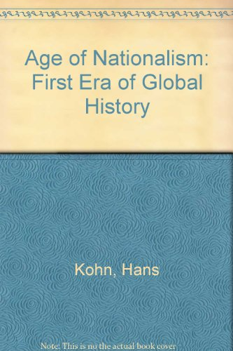 9780061313806: Age of Nationalism: First Era of Global History