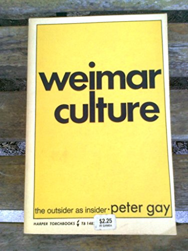 9780061314827: Weimar Culture the Outsider As Insider