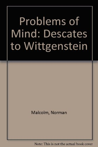 9780061315855: Problems of Mind: Descartes to Wittgenstein