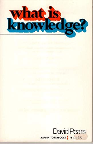 9780061315862: WHAT IS KNOWLEDGE?