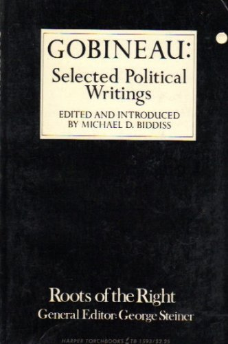 9780061315930: Gobineau: Selected Political Writings (Roots of the Right)