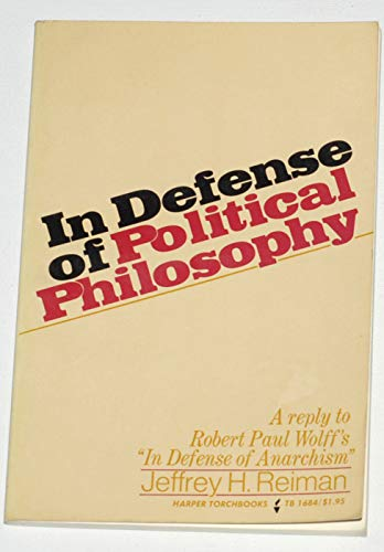 9780061316845: In Defence of Political Philosophy (Torchbooks)