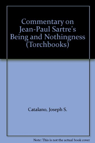 9780061318078: Commentary on Jean-Paul Sartre's