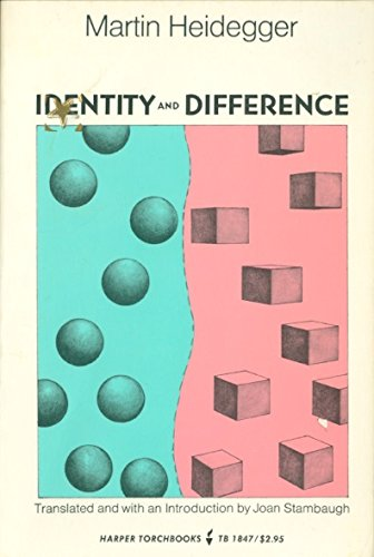 9780061318474: Identity and Difference (Torchbooks) (English and German Edition)