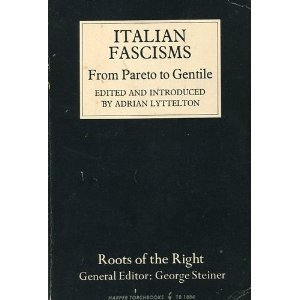 9780061318849: Italian fascisms from Pareto to Gentile (Roots of the Right)