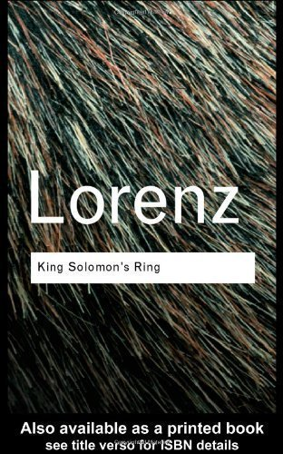 King Solomon's Ring (0061319767) by Konrad Lorenz