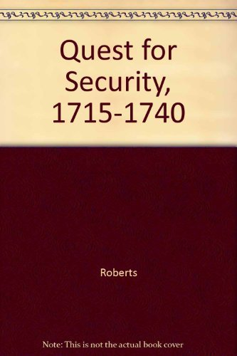 9780061330162: Quest for Security, 1715-1740