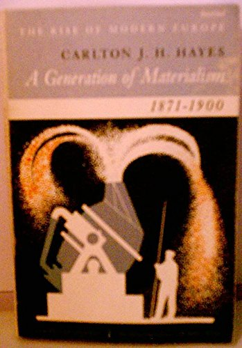9780061330391: A Generation of Materialism, 1871-1900